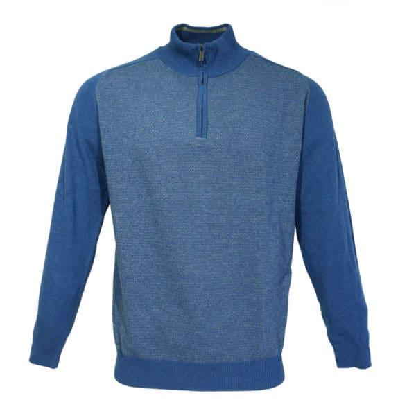 Codice blue half zip jumper front