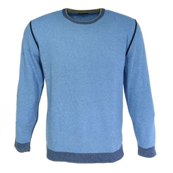 Codice crew neck jumper blue front