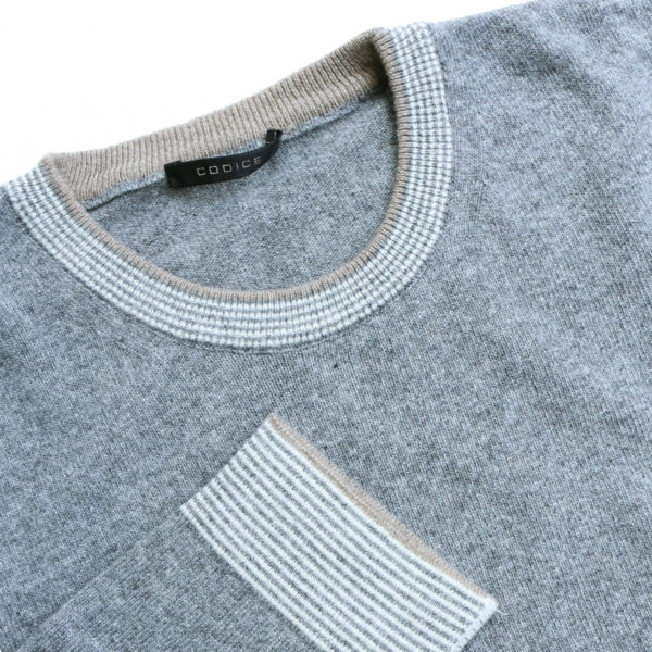 Codice crew neck jumper grey jumper