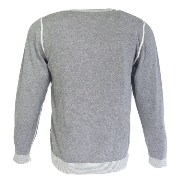 Codice crew neck jumper grey jumper back