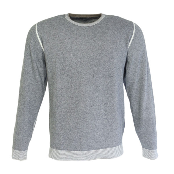Codice crew neck jumper grey jumper detail