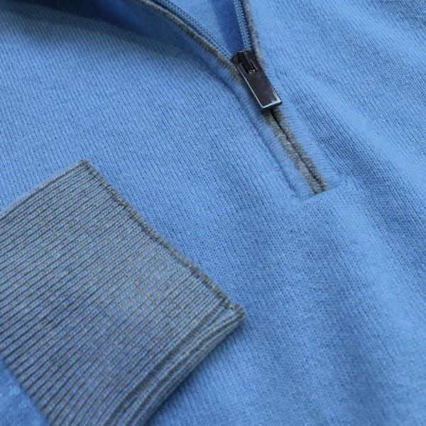 Codice light blue half zip jumper