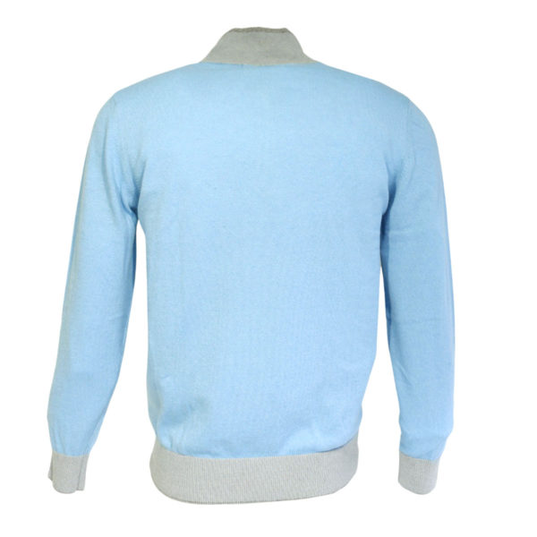 Codice light blue half zip jumper back1