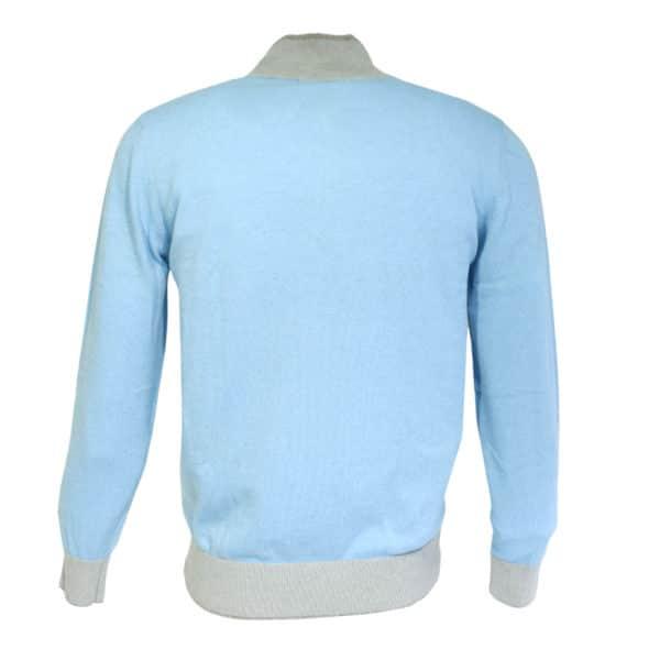 Codice light blue half zip jumper back1