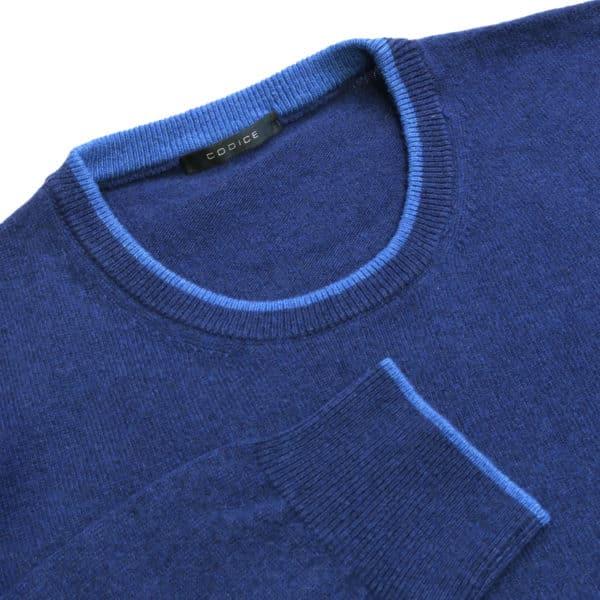 Codice navy crew neck jumper detail