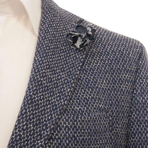 DIGEL Enrico Cotton Blend Unstructured Jacket NAVY 3