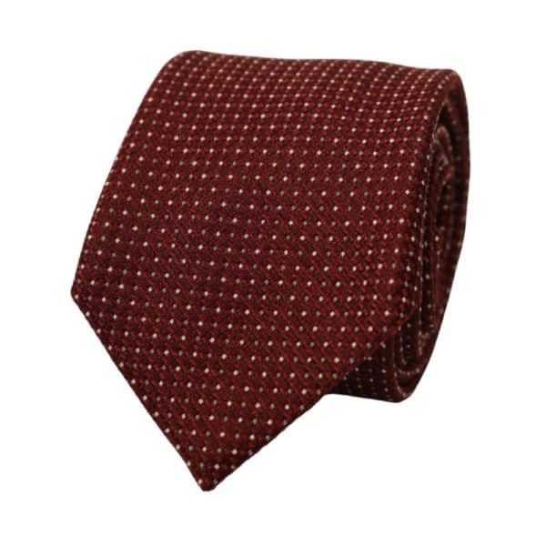 Emporio Armani Diamond Knit Tie Burgundy 1