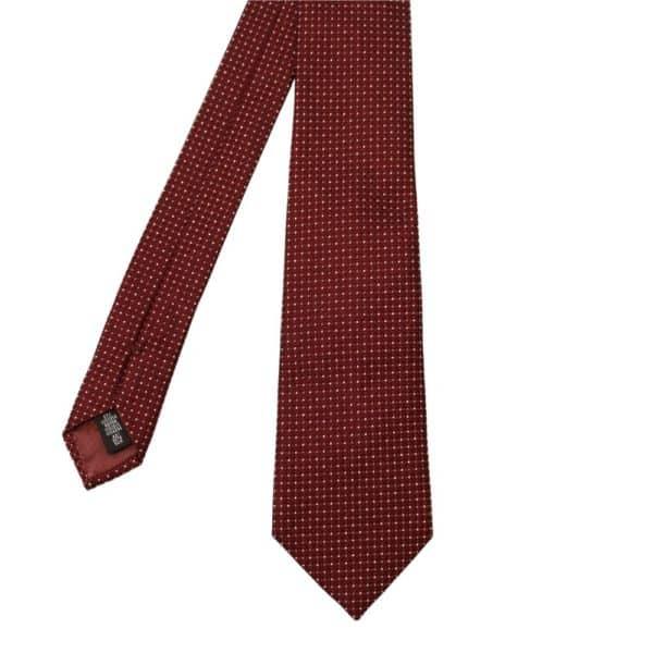 Emporio Armani Diamond Knit Tie Burgundy 2