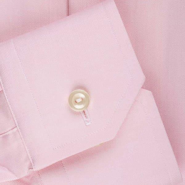 Eton Shirt Micro Herringbone Twill Pink cuff