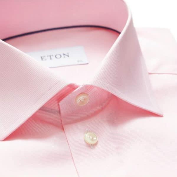 Eton Shirt Pink and White Fine Stripe