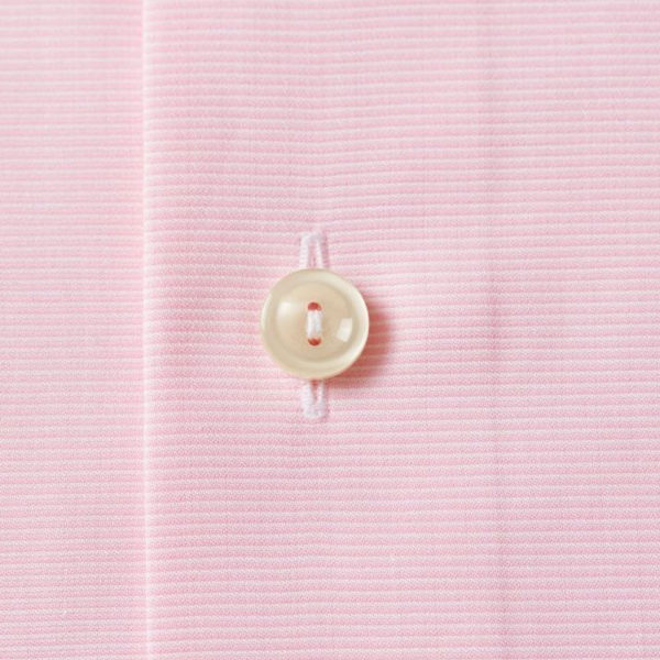 Eton Shirt Pink and White Fine Stripe fabric