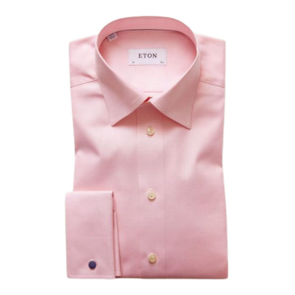 Eton Shirt Pink and White Fine Stripe1