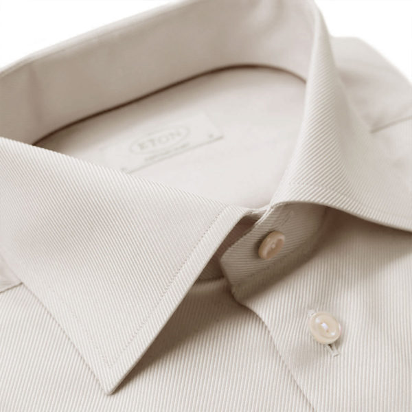 Eton Shirt Textured Twill beige