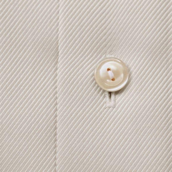 Eton Shirt Textured Twill beige fabric