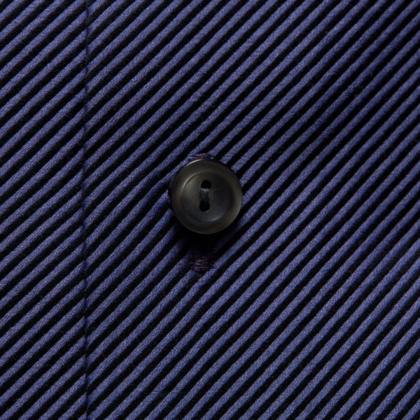 Eton Shirt fabric diagonal textured twill Navy