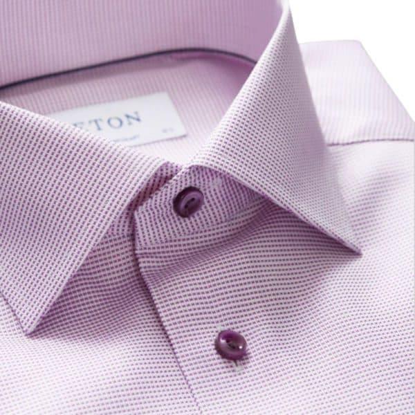 Eton Shirt pink and white twill collar