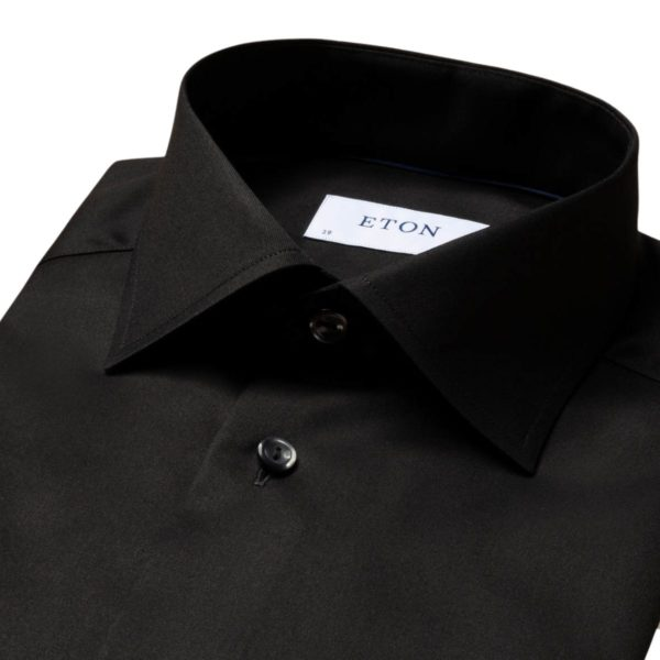 Eton Shirt signature twill black collar