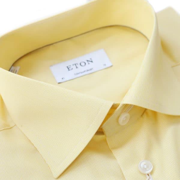 Eton Shirt stripe yellow contemporary collar