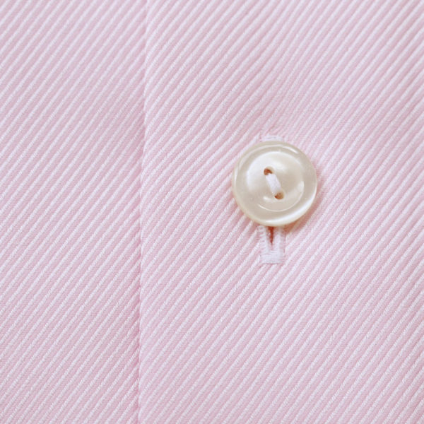 Eton Shirt structured textured diagonal twill pink fabric