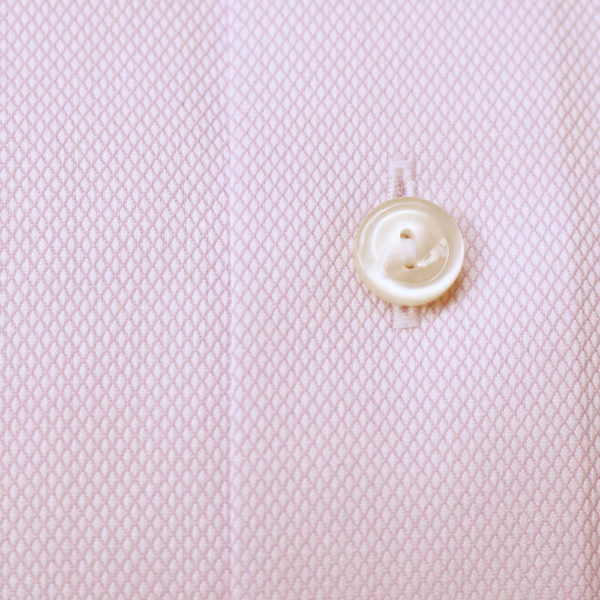 Eton Shirt structured waffle royal oxford fabric pink