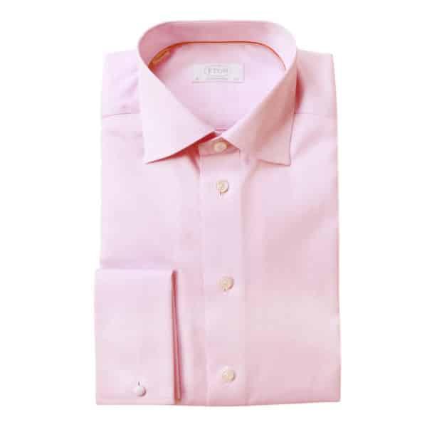 Eton Shirt structured waffle twill pink main