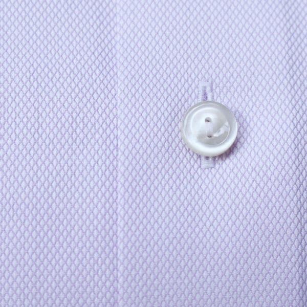 Eton Shirt structured waffle twill purple fabric