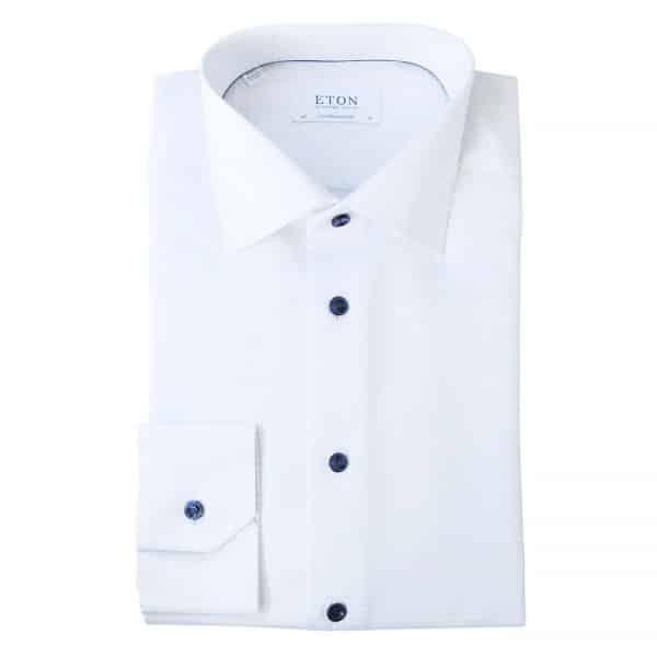 Eton Shirt thin blue check white NEW11