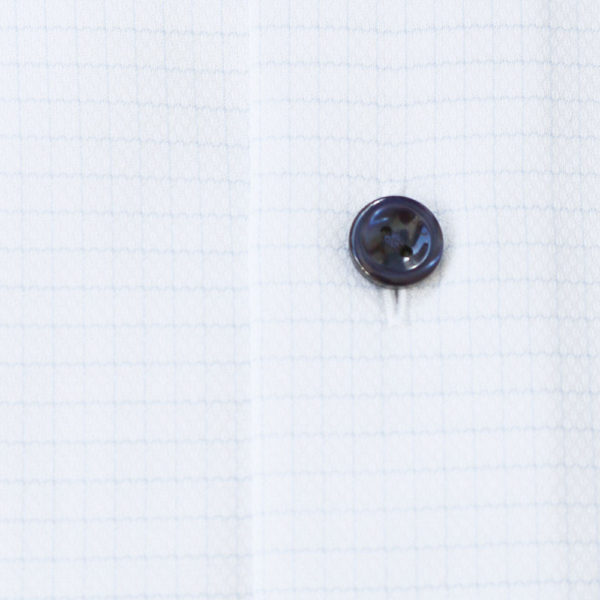 Eton Shirt thin blue check white fabric 1