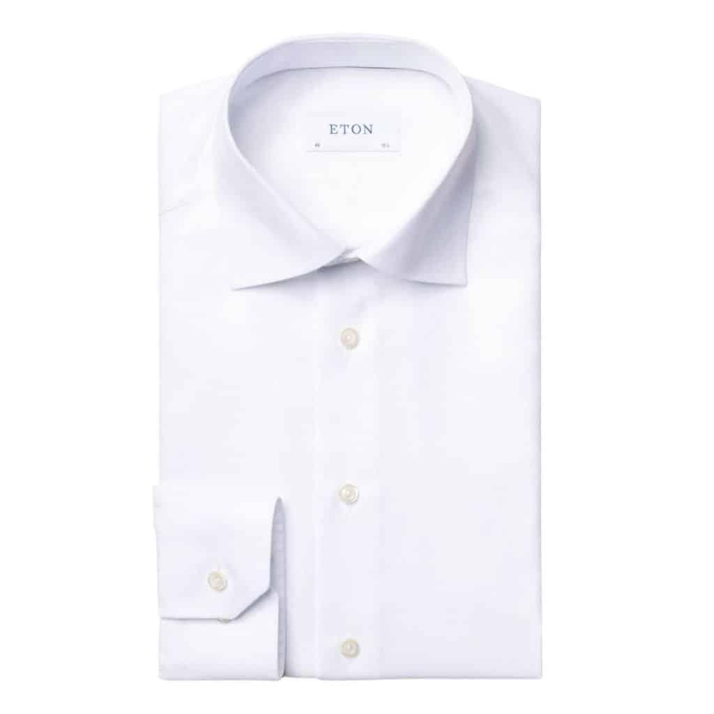 Eton White textured shirt