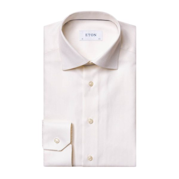 Eton shirt Herringbone off white