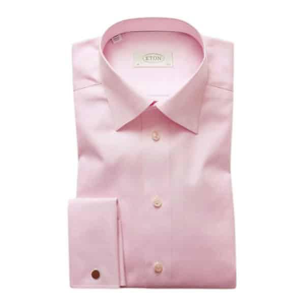 Eton shirt Pink Herringbone Twill MO
