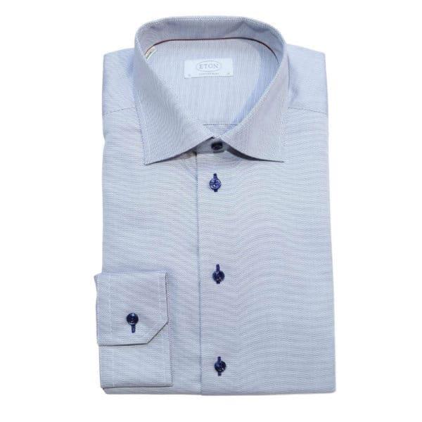 Eton shirt blue micro diamond