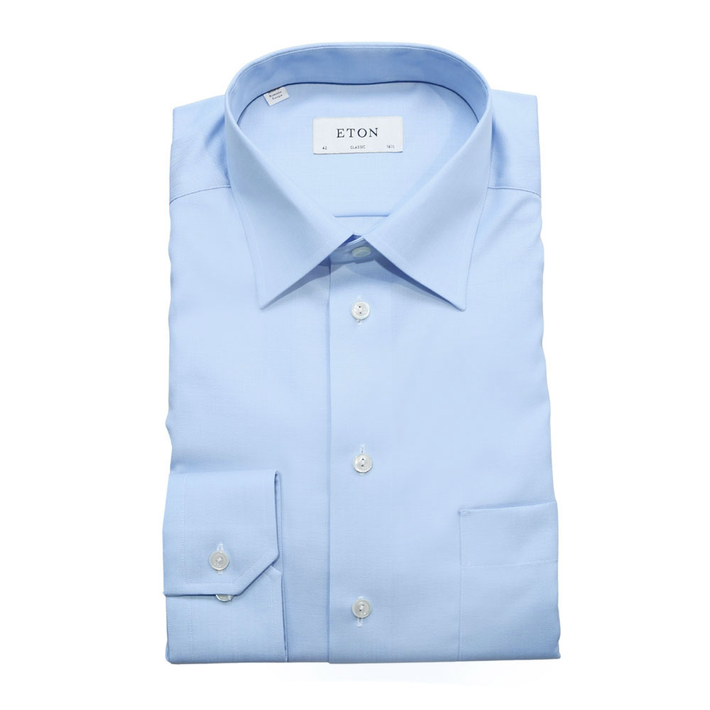 Eton shirt classic herringbone
