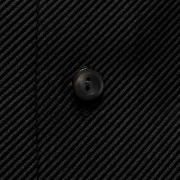 Eton shirt diagonal textured twill black fabric