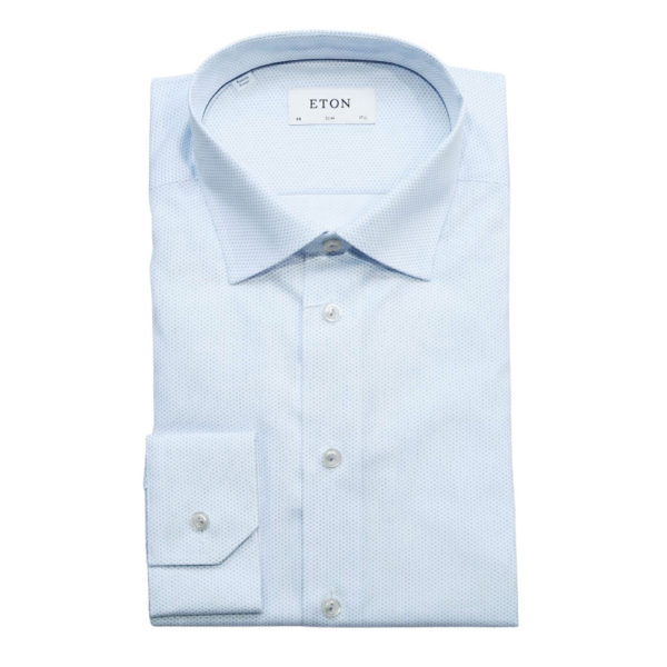 Eton shirt geometric micro pattern