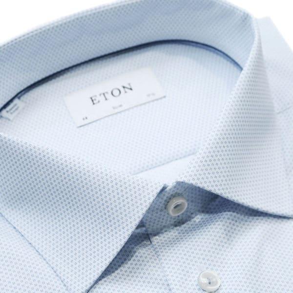 Eton shirt geometric micro pattern collar