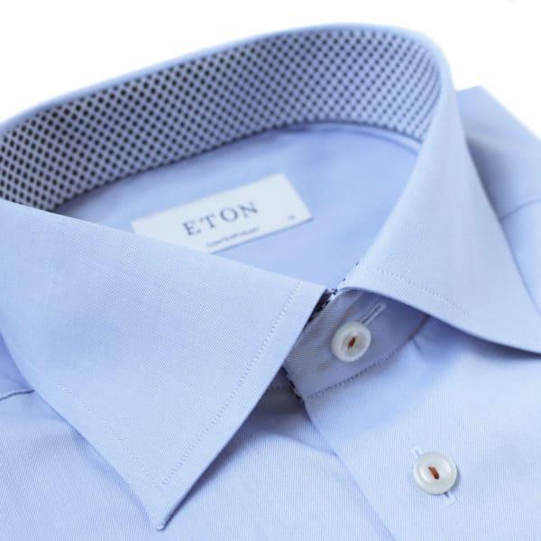 Eton shirt geometric twill blue collar