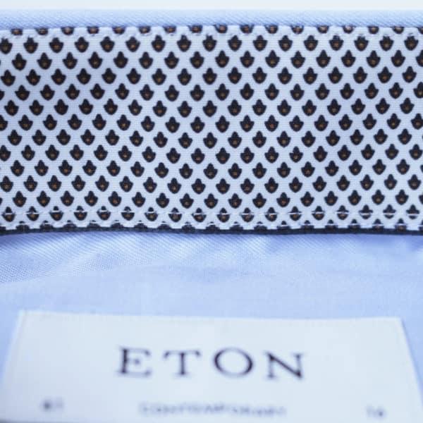 Eton shirt geometric twill blue collar2