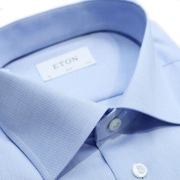 Eton shirt pattern weave collar1