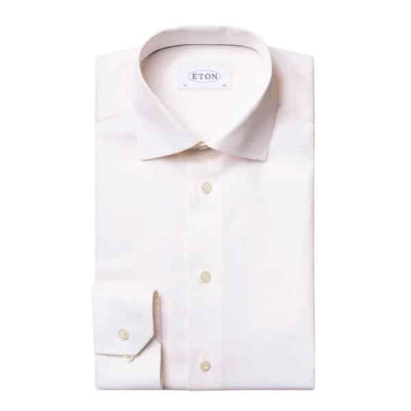 Eton shirt signature twill off white1