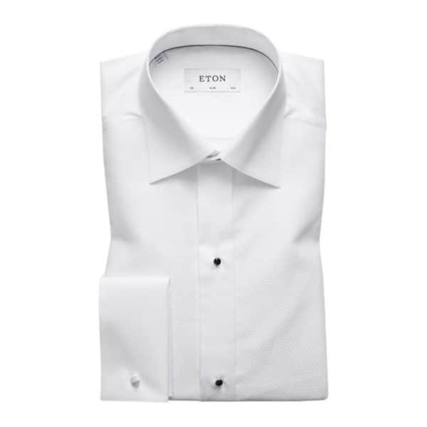 Eton shirt signature twill white french cuff1 1