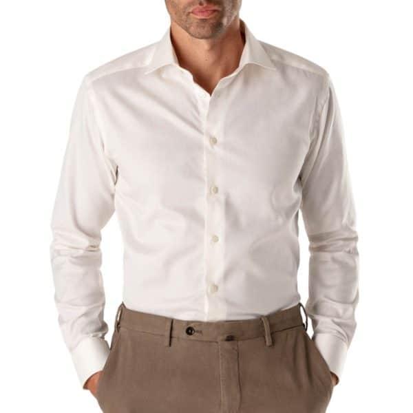 Eton shirt signature twill white french cuff1