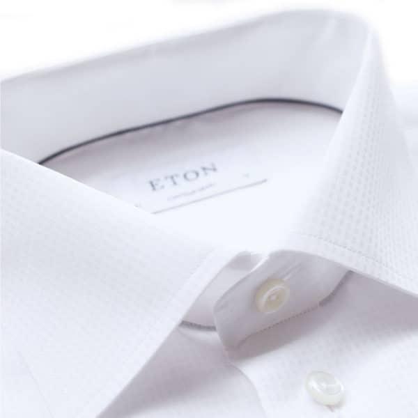 Eton shirt textured geometric pattern1