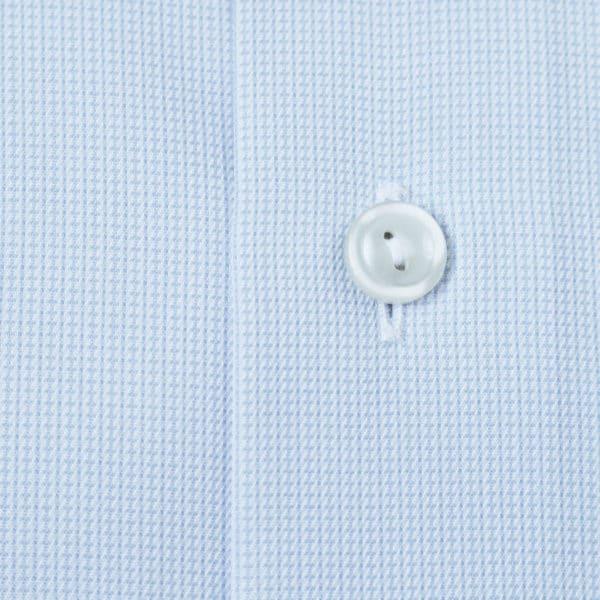 Eton shirt textured twill fabric light blue1