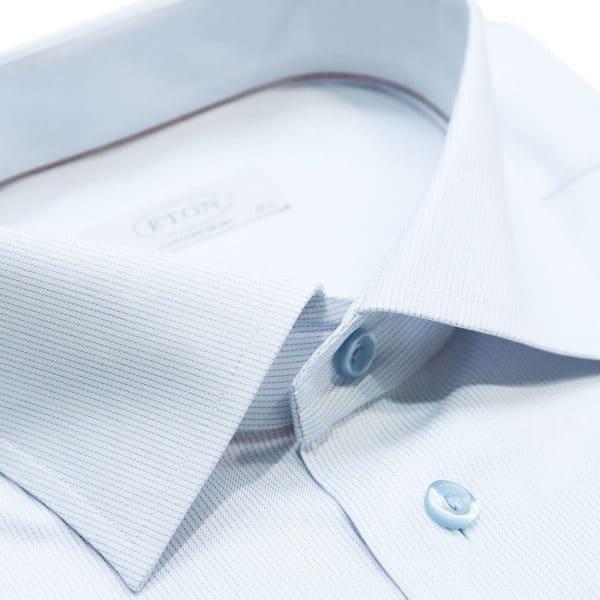 Eton shirt twill stripe white collar