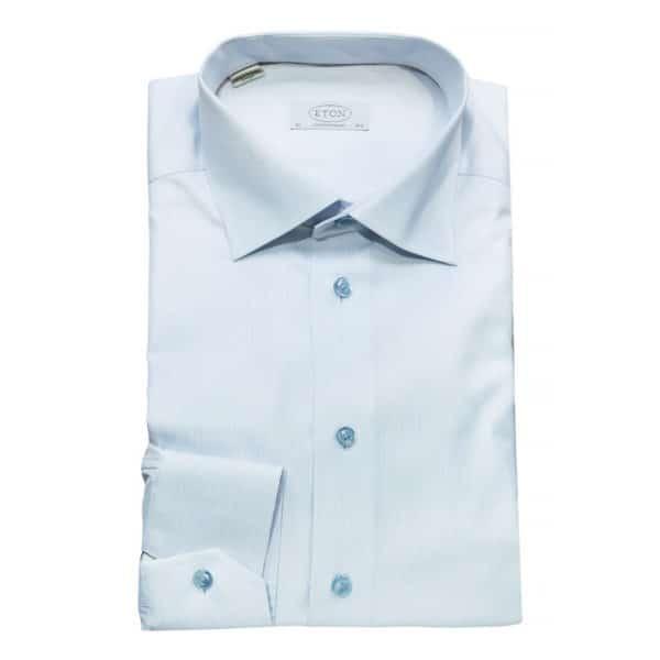 Eton shirt twill stripe white1