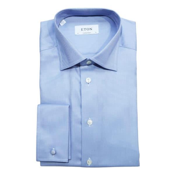 Eton shirt weave twill french cuff