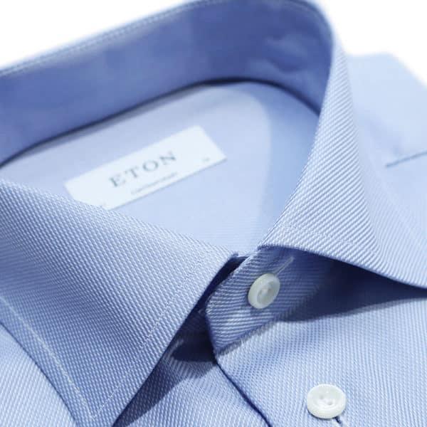 Eton shirt weave twill french cuff colla