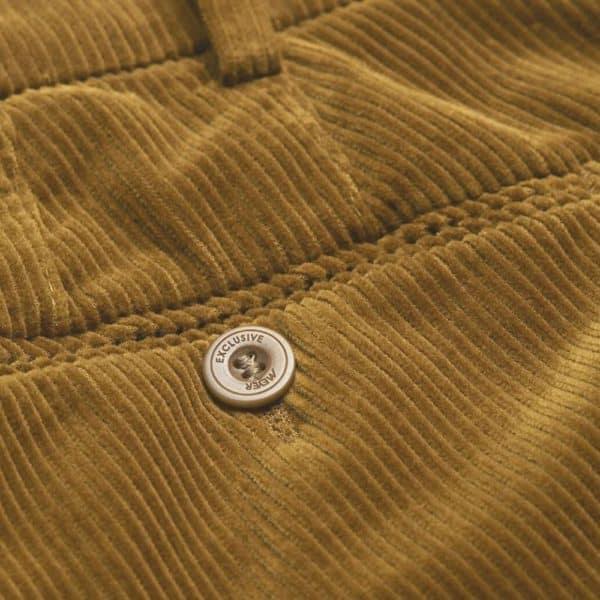 Flexible Cotton Corduroy Camel Chinos side back pocket