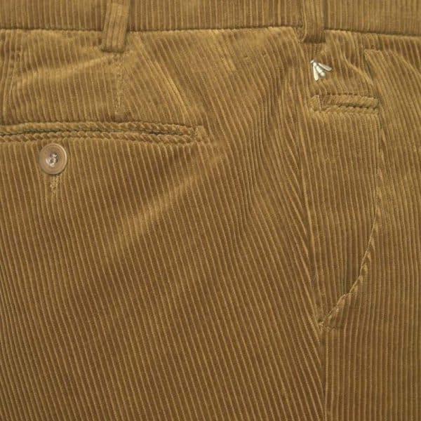Flexible Cotton Corduroy Camel Chinos side detail